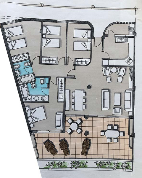 Plan of this large apartment